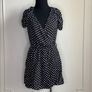 Zara Black and White WrapPolka Dot  Romper